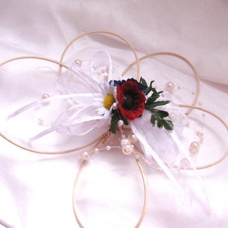 Dekorace na svatební auto - květ rozkvetlá louka,