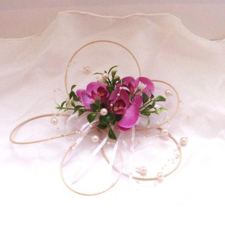 Dekorace na svatební auto - květ s orchidejí,
