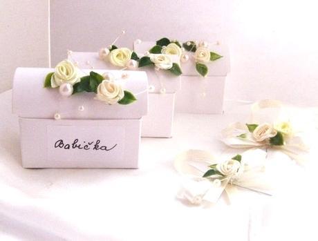 jmenovka - krabička na dárek smetana s vanilkou,
