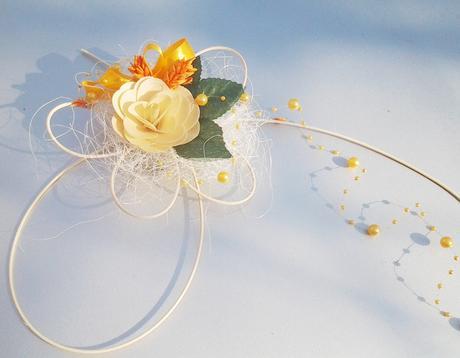 Korsáž auta- Motýli a květy mini,