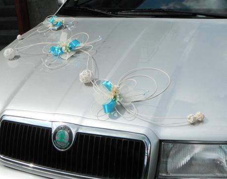 Korsáž auta- Motýli mini blue,