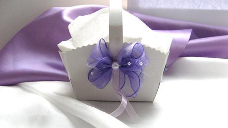 Košíček na malé koláčky lila,