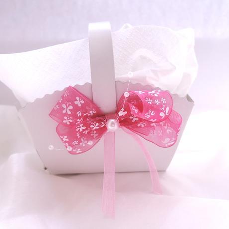 Košíček na malé koláčky růžový motýlkový,