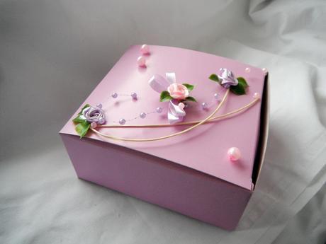Krabička na výslužku- lila rosa,