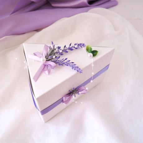 krabička na výslužku nebo dort levandulová,