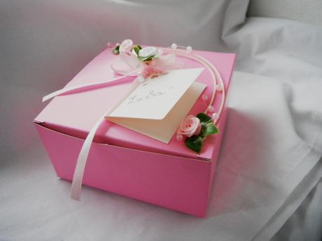 Krabička na výslužku- pink rosa,
