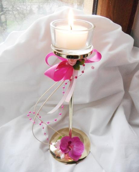 kroužek na ubrousky s orchidejí + 2 ubrousky,