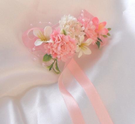 """náramek z látkových květin """"zasněná"""","""