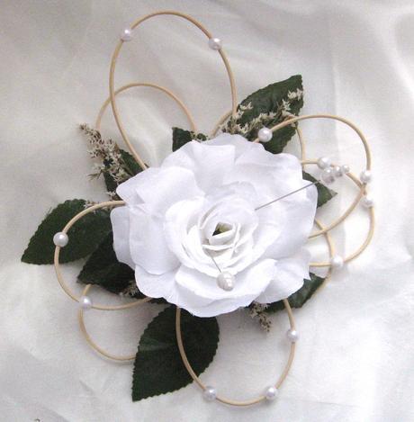 """podložka pod prstýnky """"Bílá růže"""","""