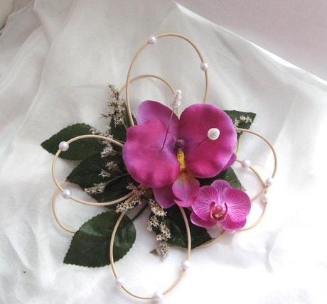 """podložka pod prstýnky """"Orchidejka"""","""