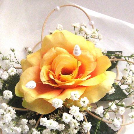 """podložka pod prstýnky """"Žlutá růže"""","""