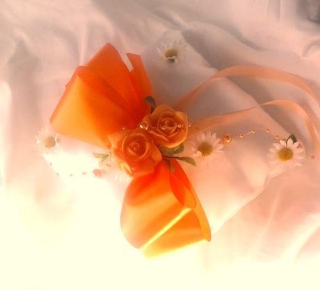 """polštářek na prstýnky """" růže a kopretiny"""","""