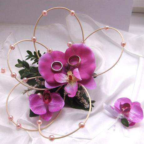 """Ratanový svícen """"Orchidejka"""","""