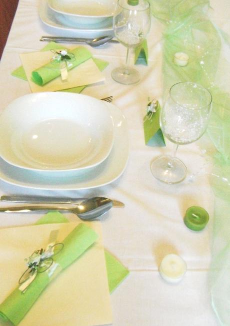 Sada k dekoraci svatebního stolu- čtyřlístková,