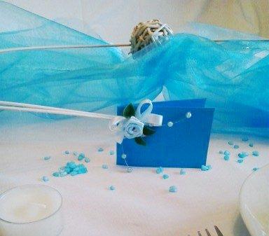 Sada k dekoraci svatebního stolu- na vlnách,
