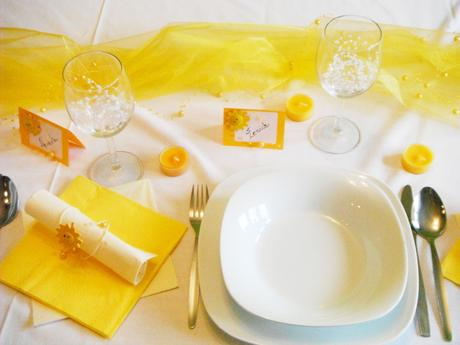 Sada k dekoraci svatebního stolu pro 10 osob,