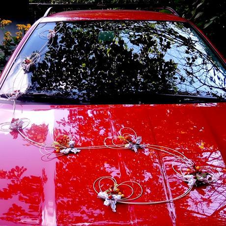 """svatební auto - """"Srdíčková girlanda podzimní"""","""