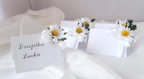 """svatební jmenovka """"Kopretinová"""","""