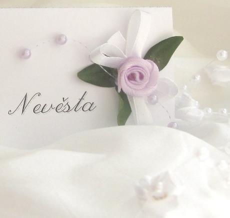 """svatební jmenovka """"Růžička"""","""