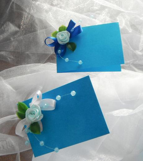 svatební jmenovky- modré variace,