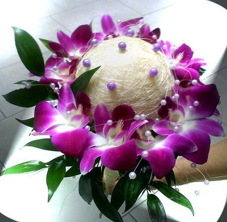 svatební kytice dendrobium,