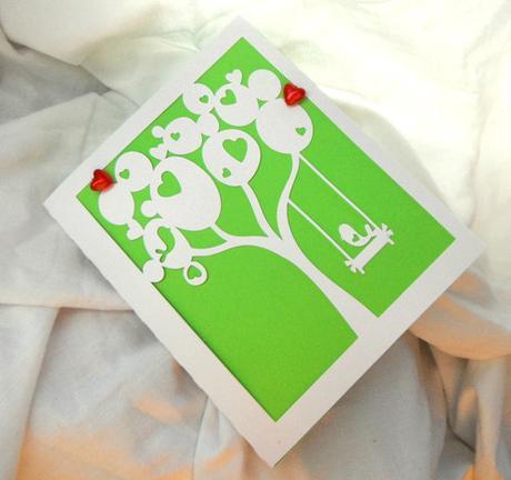 """Svatební oznámení """" Láska ve větvích"""","""