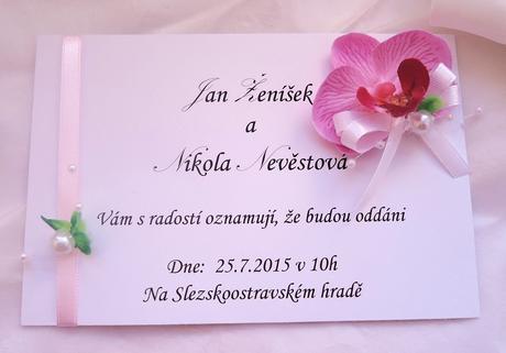 svatební sada s orchidejí,