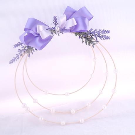 Svatební věneček něžný levandulový,