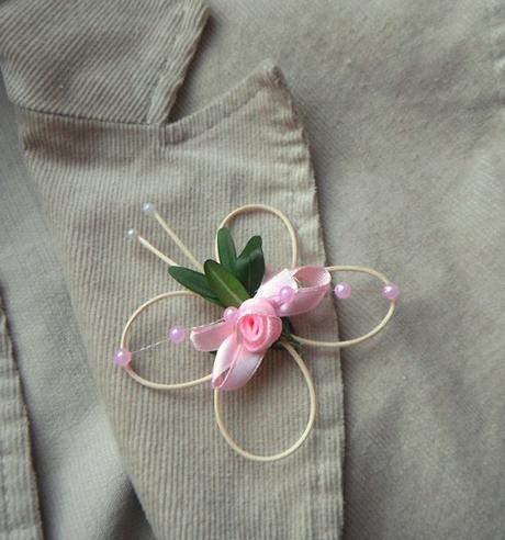 """svatební vývazek """"Motýlek s růžičkou1"""","""
