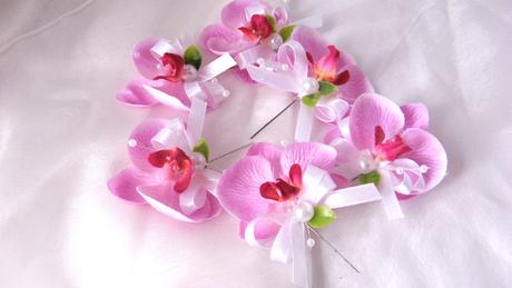 """Svatební vývazek """"Orchidejka"""","""
