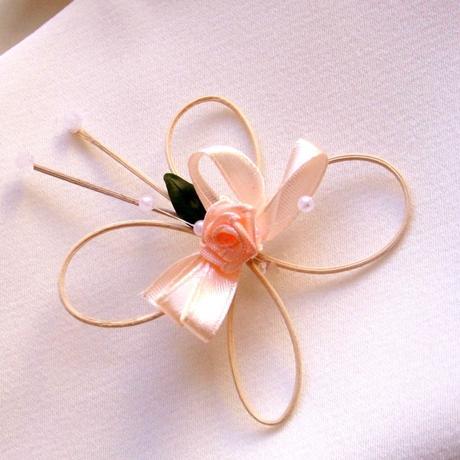 """Svatební vývazky  -  """"Motýlek meruňkový"""","""