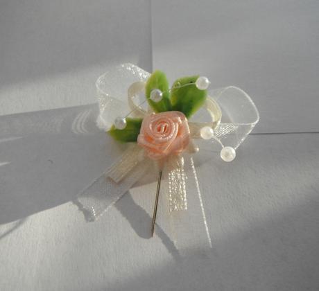 Svatební vývazky - s růžičkou,