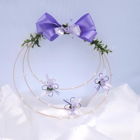Svatebnívěneček - něžný motýlí lila,