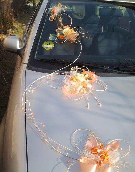 Výzdoba auta- 7 motýlů romantic,