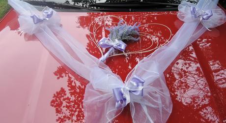 "Výzdoba svatebního auta- ""Kytička levandule"","