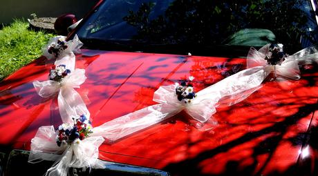 "Výzdoba svatebního auta- ""Rozkvetlá louka"","
