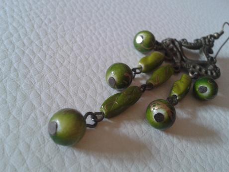 Bomba zelené náušnice,