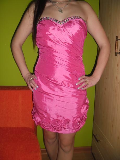 Luxusné ružové šatičky, 36