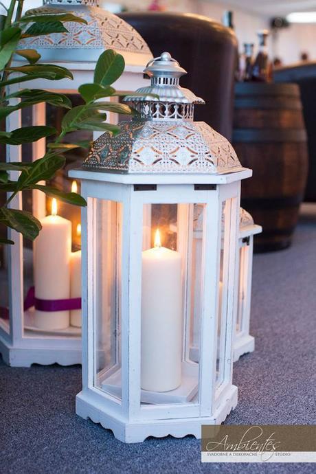 Set drevených lampášov - 3ks (prenájom),
