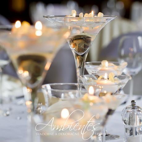 Vázy martini - rôzne výšky,