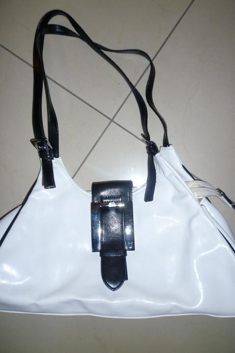 2 páry čierno-bielych topánok + kabelka - veľ.39 , 39