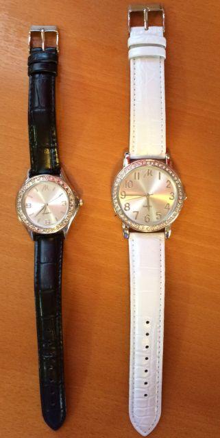 2 x kvalitné hodinky so štrasom,