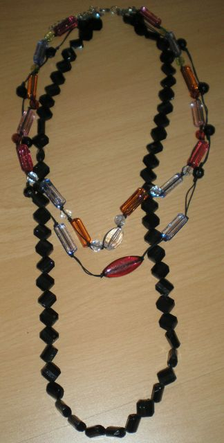 3-radový náhrdelík s kameňmi,