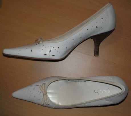 Krémové kožené topánky Faith , 40