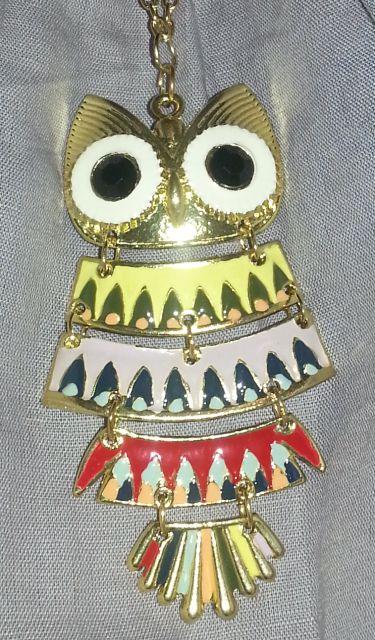 náhrdelník farebná sova,