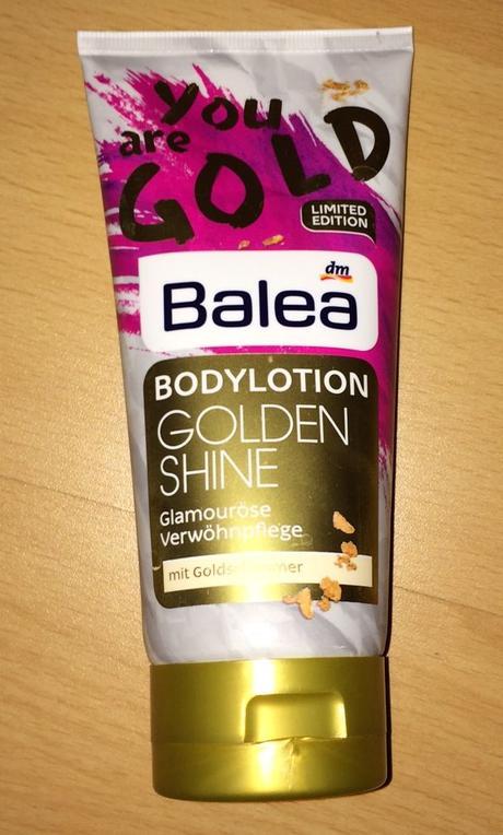 zlatý telový krém Balea,