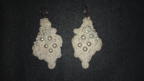 handmade vyrobené svadobné náušničky ,