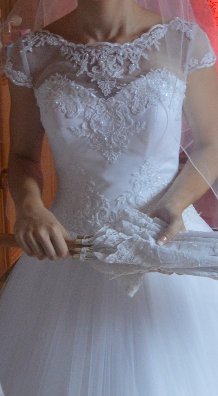 92779c919944 Svadobné šaty s čipkou