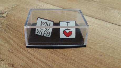 Manzetove gombiky I love my wife,