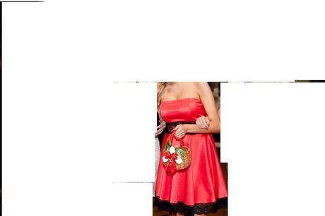 červené šaty s čipkou, 38